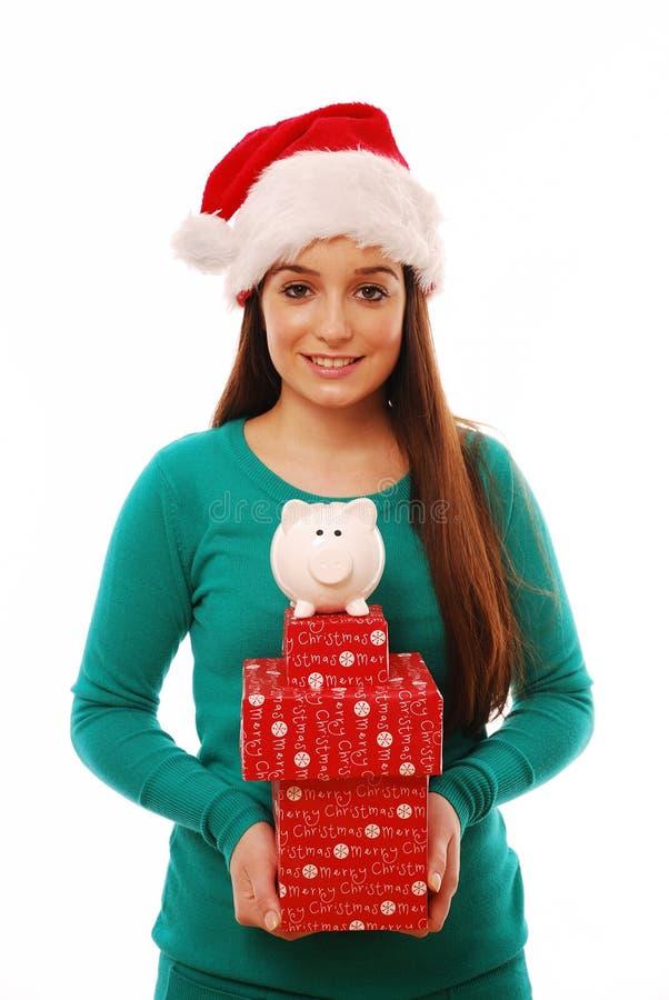 Kerstmis die vbesparing besteedt royalty-vrije stock foto