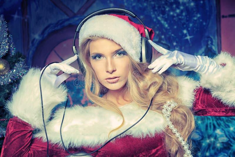 Kerstmis DJ royalty-vrije stock afbeelding