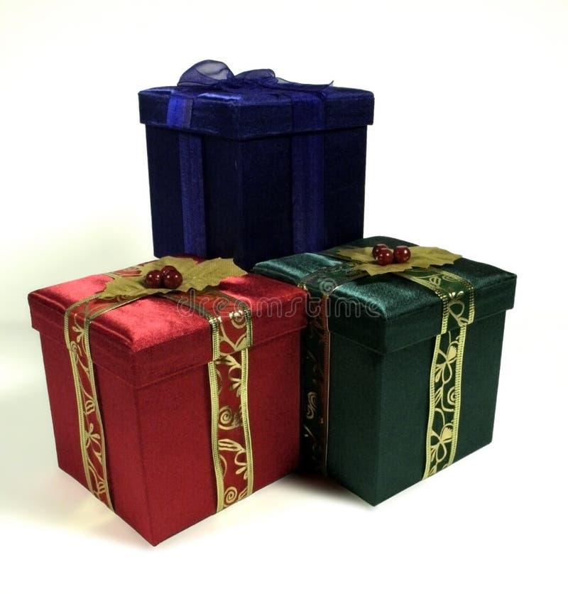 Kerstmis drie stelt voor stock fotografie