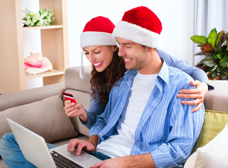 Kerstmis e-Winkelt stock afbeelding