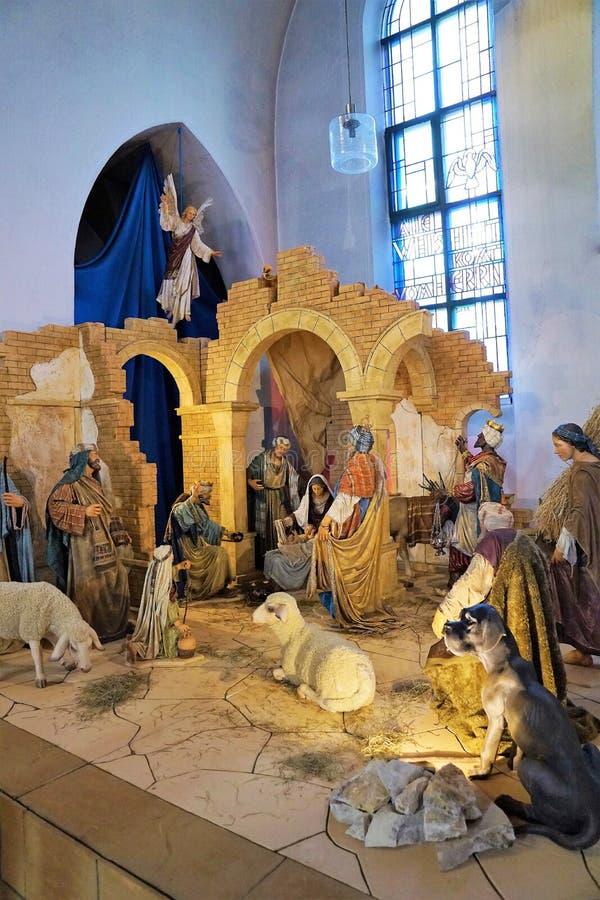 Kerstmis in een kerk royalty-vrije stock fotografie