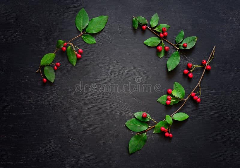 Kerstmis eenvoudige rustieke achtergrond stock afbeelding