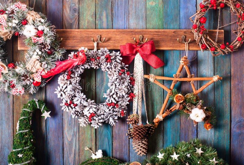 Kerstmis eerlijk decor stock afbeeldingen
