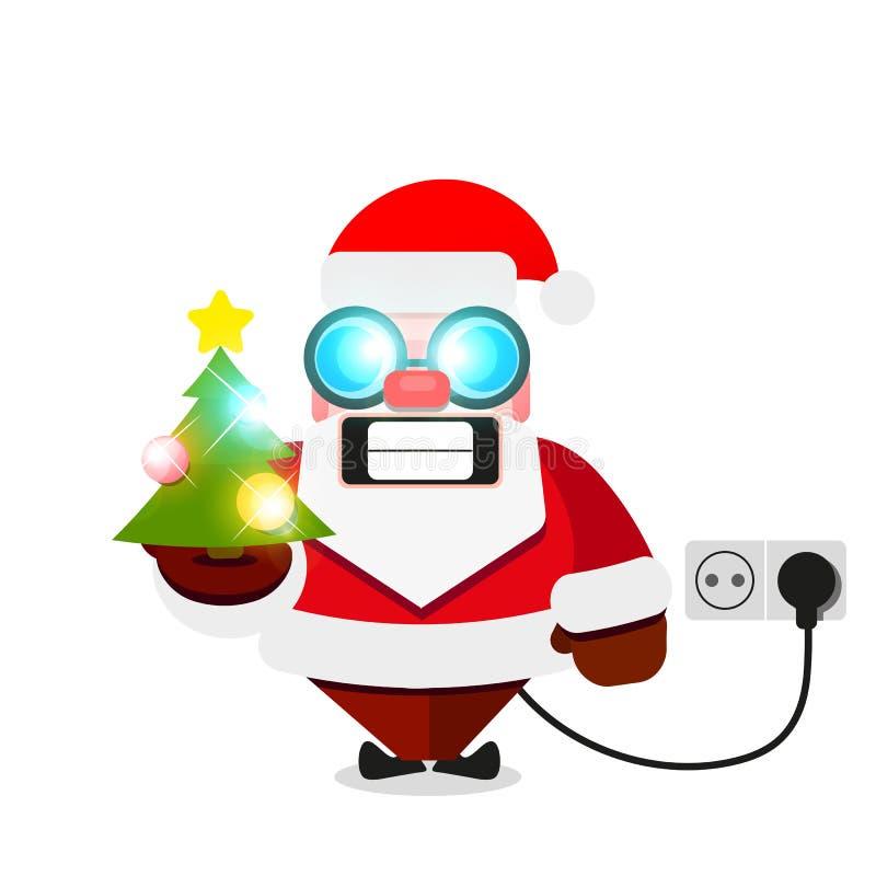 Kerstmis elektrische Santa Claus vector illustratie
