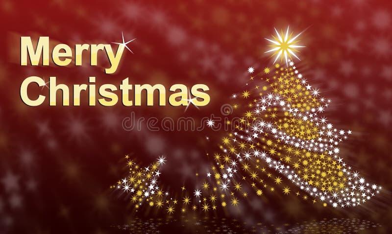 Kerstmis en de Kerstboom van de tekst Vrolijke stock fotografie