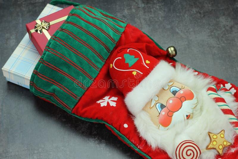 Kerstmis En De Kerstman Stock Foto