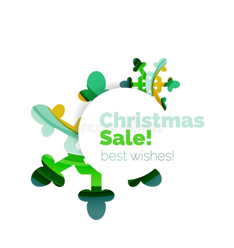 Kerstmis en de nieuwe banner van de jaarverkoop royalty-vrije illustratie