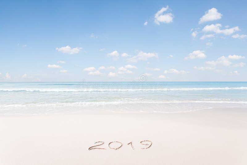 Kerstmis en het nieuwe tropische strand van het jaarthema royalty-vrije stock afbeeldingen