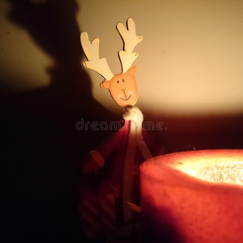 Kerstmis en kaars stock afbeeldingen