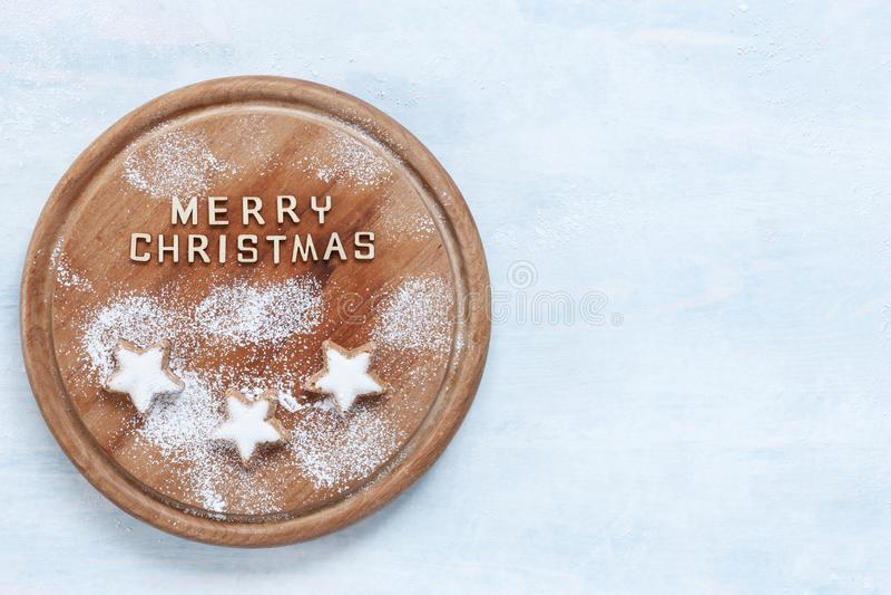Kerstmis en Komst traditionele amandelpeperkoek royalty-vrije stock afbeelding