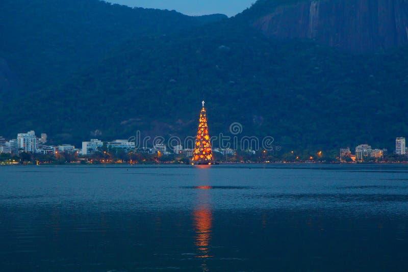 Kerstmis en Nieuw jaar in Rio de Janeiro stock afbeeldingen