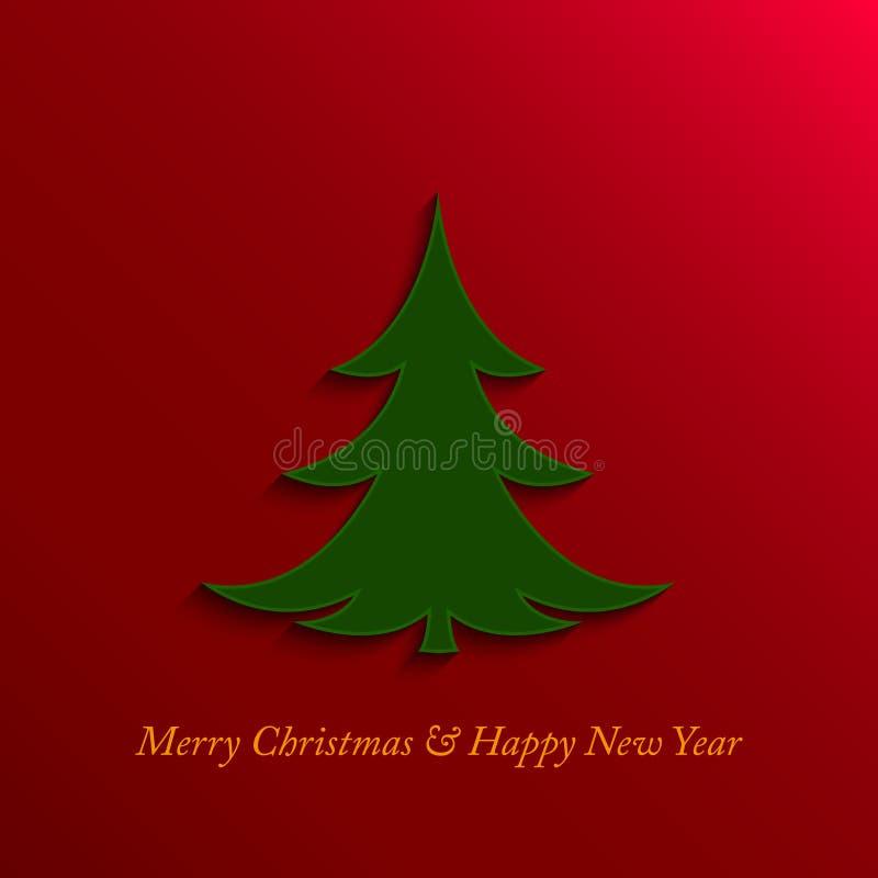 Kerstmis en nieuwe jaarboom vector illustratie