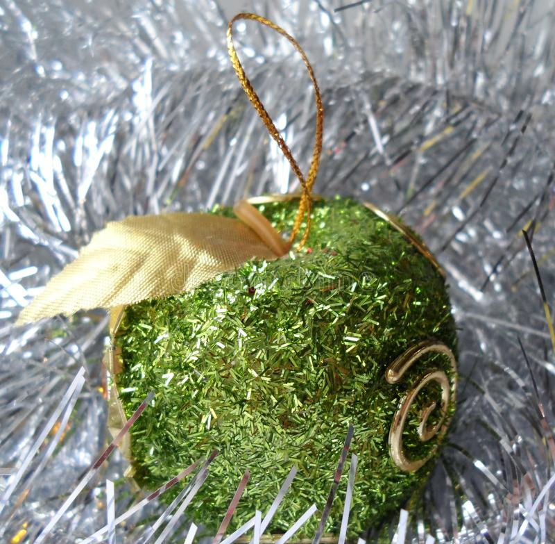 Kerstmis en Nieuwe jaarornamenten, ballen stock foto's