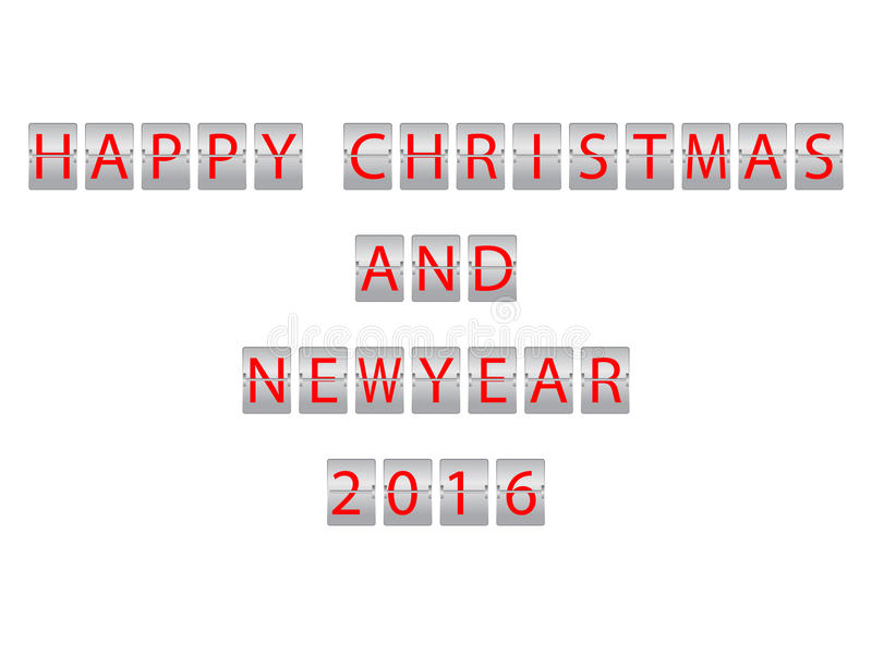Kerstmis en Nieuwjaar 2016 vector illustratie