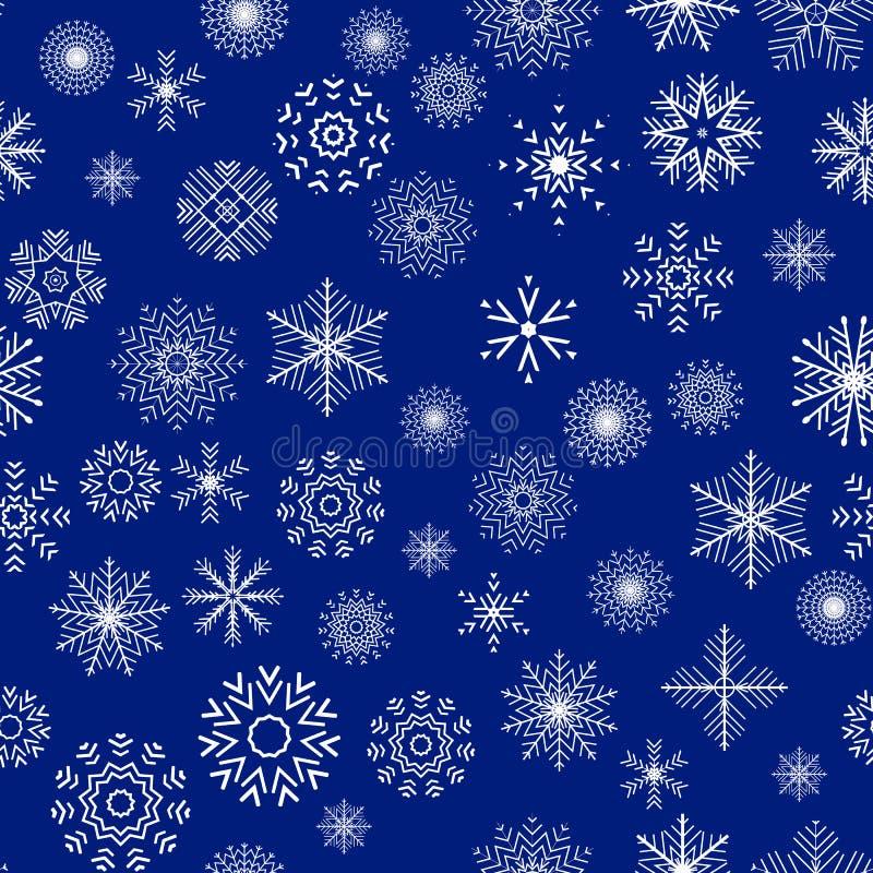 Kerstmis en Nieuwjaar naadloos blauw patroon vector illustratie