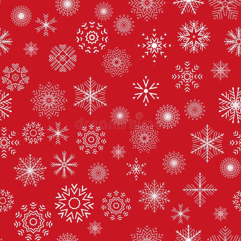 Kerstmis en Nieuwjaar naadloos rood patroon stock illustratie