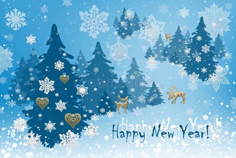 Kerstmis en Nieuwjaardecoratie: Christmassyspar met Sn royalty-vrije illustratie