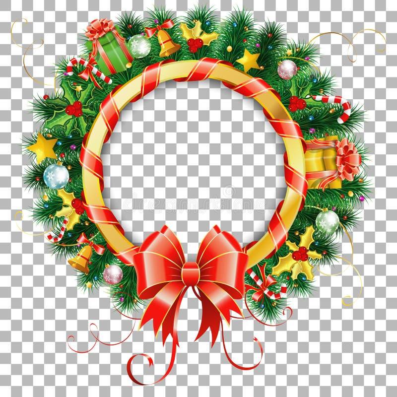 Kerstmis en Nieuwjaarkroon vector illustratie