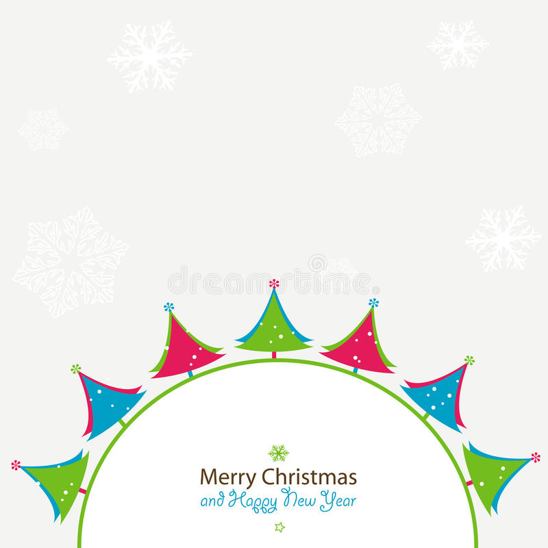 Kerstmis en Nieuwjaarskaart stock illustratie