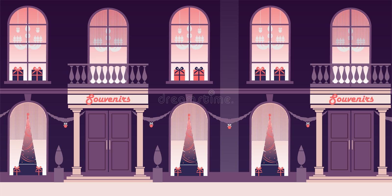 Kerstmis en Oudejaarsavond royalty-vrije illustratie