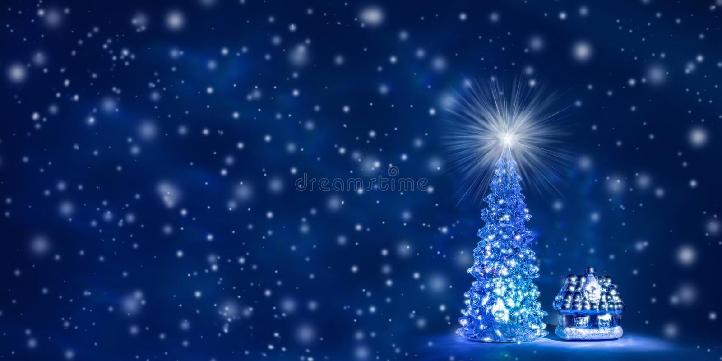 Kerstmis en van het Nieuwjaar achtergrond met beschikbare ruimte voor tekst stock illustratie