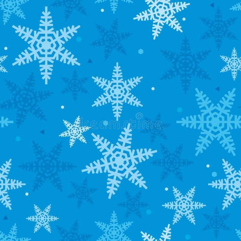 Kerstmis feestelijk Patroon van Snowflakes_03 stock afbeeldingen