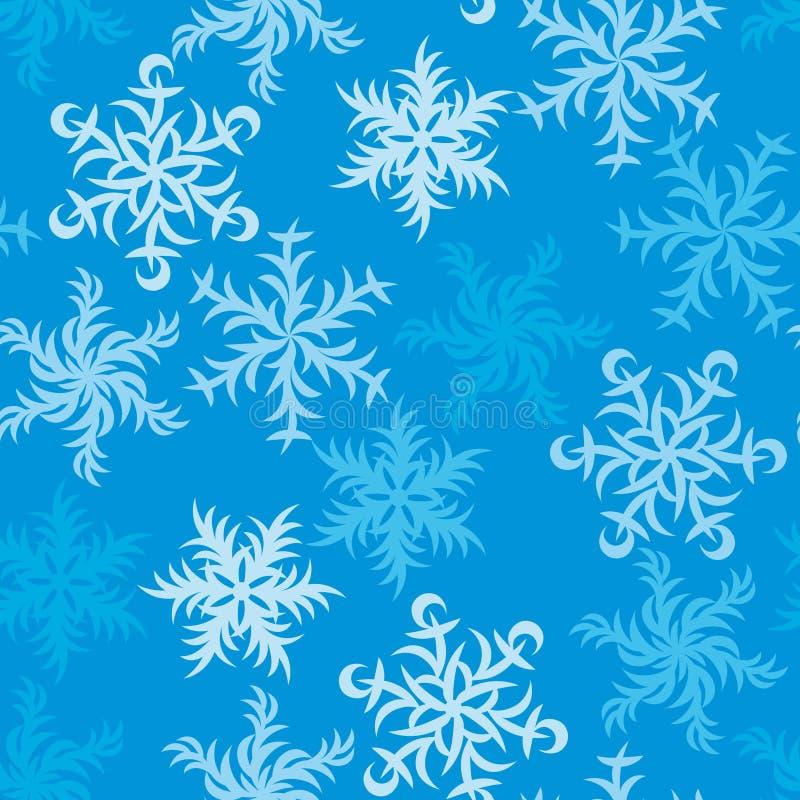 Kerstmis feestelijk Patroon van Snowflakes_01 stock fotografie