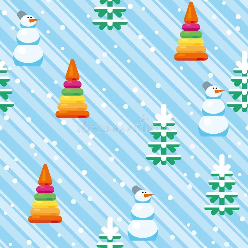 Kerstmis feestelijk Patroon van Snowman_11 royalty-vrije stock afbeelding