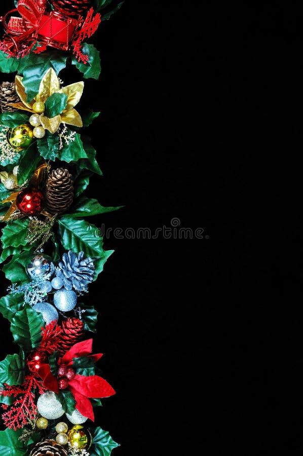 Kerstmis gardland grens royalty-vrije stock fotografie