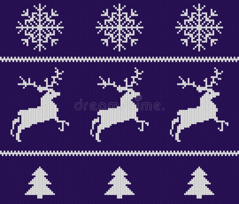 Kerstmis gebreid patroon stock illustratie