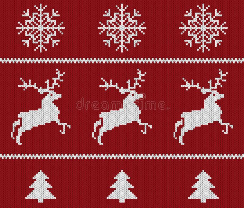 Kerstmis gebreid patroon vector illustratie