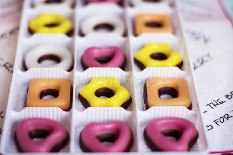 Kerstmis gekleurd suikergoed Het vrolijke concept van Kerstmis royalty-vrije stock fotografie