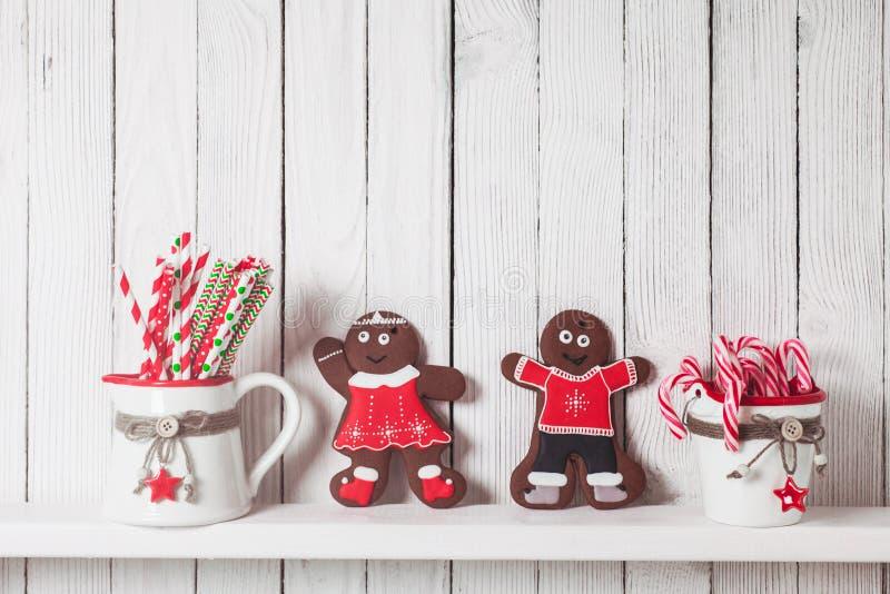 Kerstmis gingermen familie royalty-vrije stock afbeeldingen
