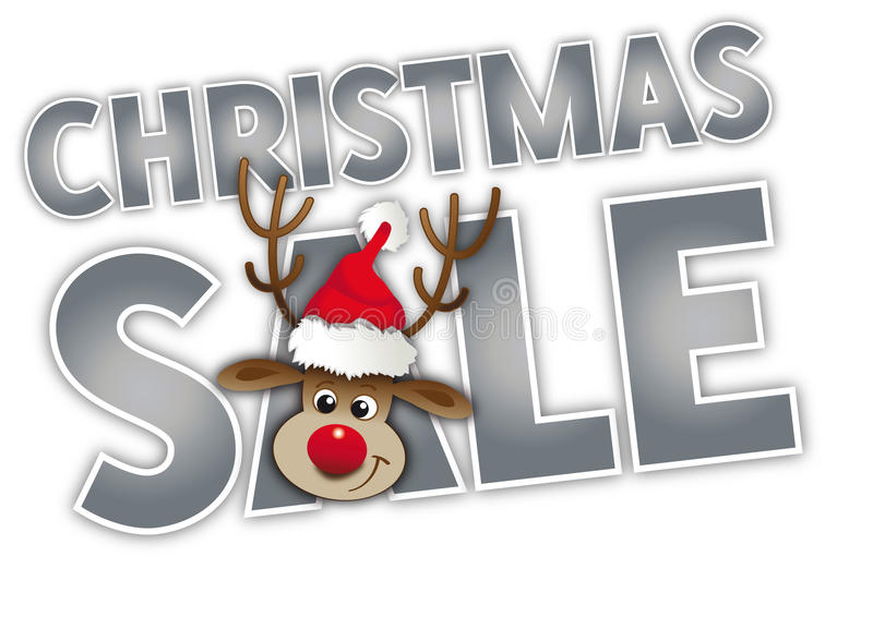 Kerstmis grote verkoop stock illustratie