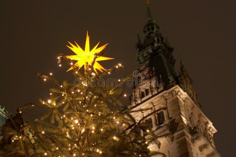 Kerstmis in Hamburg stock foto's