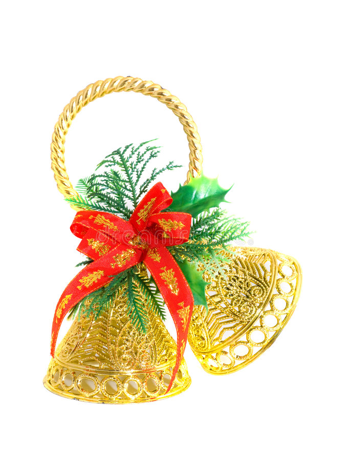 Kerstmis handbell. stock foto