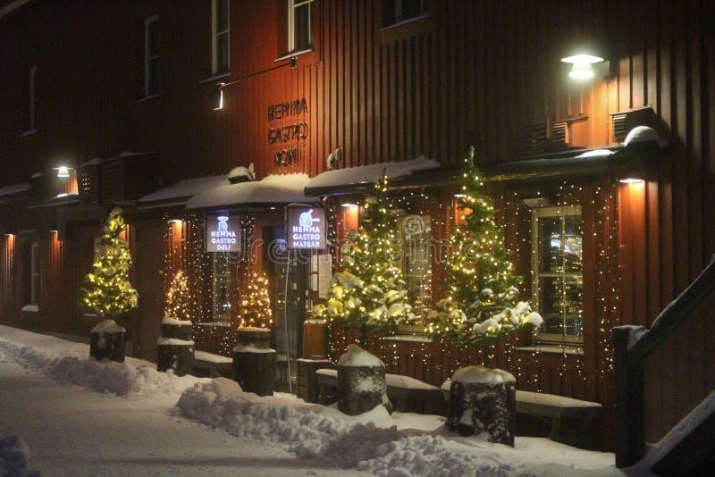 Kerstmis in Hemmagastronomi in Luleå royalty-vrije stock fotografie