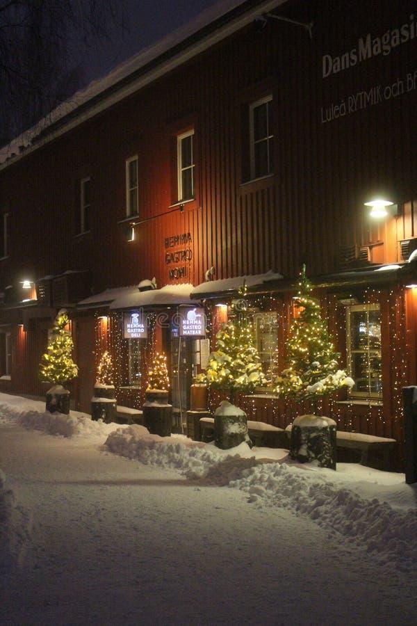 Kerstmis in Hemmagastronomi in Luleå stock fotografie