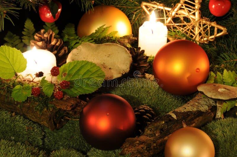 Kerstmis in het hout royalty-vrije stock foto