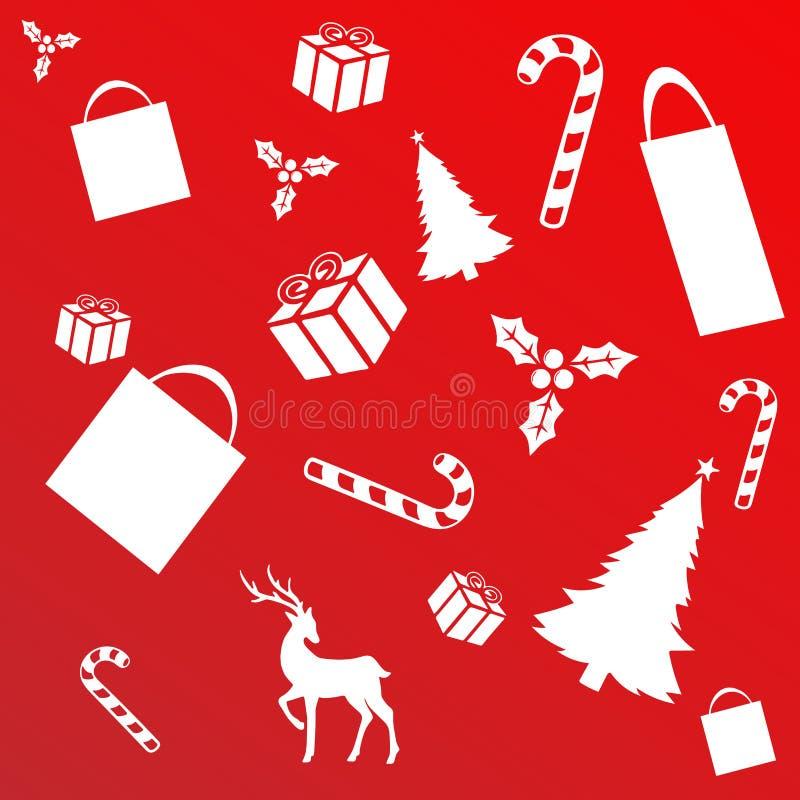 Kerstmis het winkelen concept stock illustratie