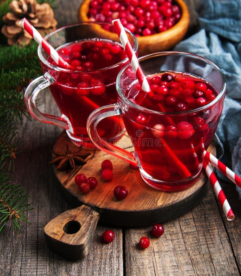 Kerstmis hete overwogen wijn royalty-vrije stock foto
