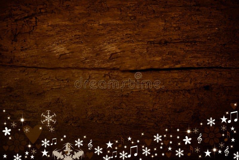 Kerstmis houten achtergrond royalty-vrije stock afbeeldingen