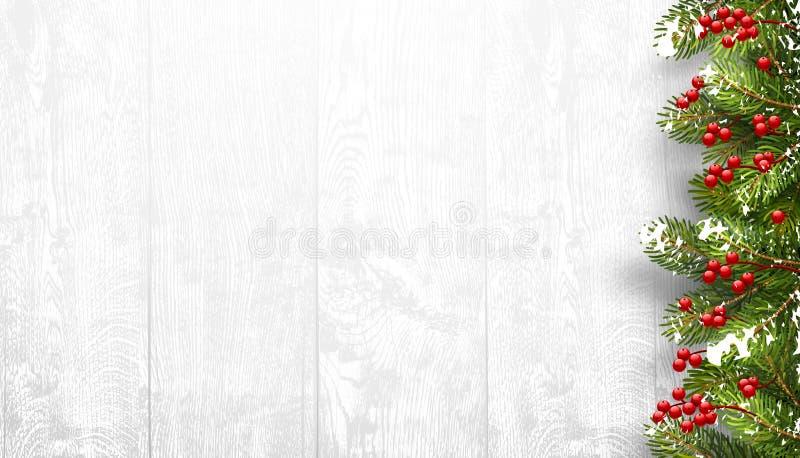 Kerstmis houten achtergrond met spartakken