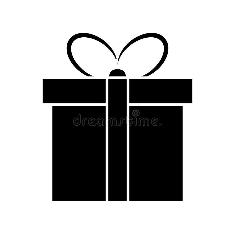 Kerstmis huidig eenvoudig die pictogram voor Kerstmisontwerp op w wordt geïsoleerd vector illustratie
