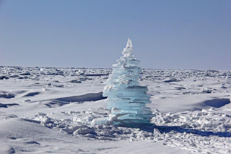 Kerstmis ijs-boom royalty-vrije stock afbeeldingen