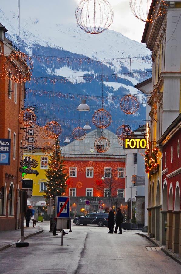 Kerstmis in Lienz, Oostenrijk royalty-vrije stock foto