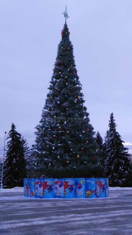 Kerstmis in Lipetsk stock foto's