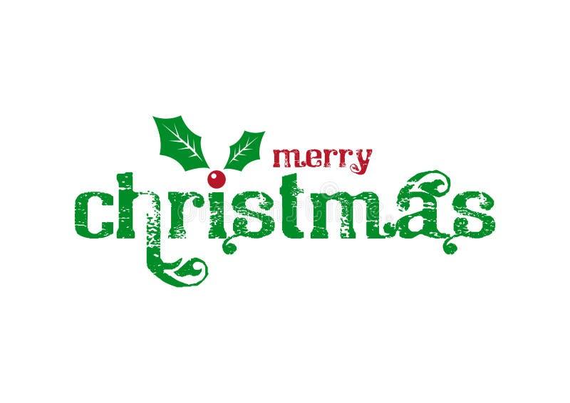 Kerstmis logotype met weg stock illustratie