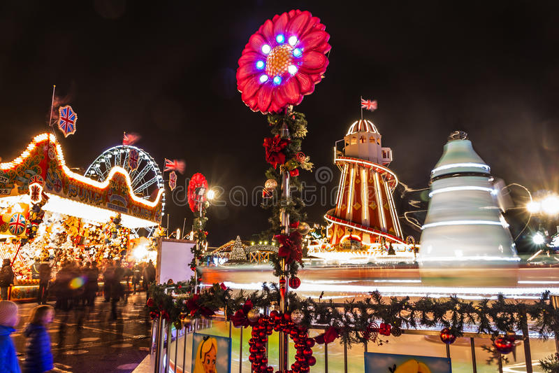 Kerstmis in Londen royalty-vrije stock afbeeldingen