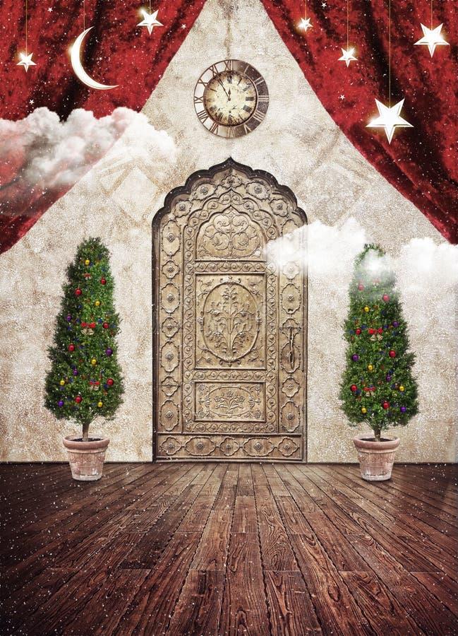 Kerstmis magische vooravond royalty-vrije stock afbeeldingen